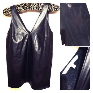Faux Leather Tank Top